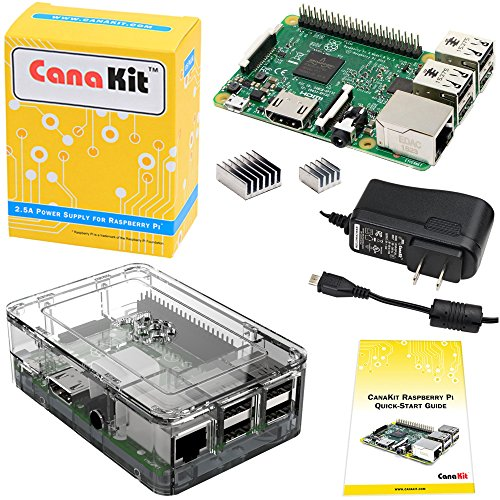 CanaKit Raspberry Pi 3 Kit with Clear Case and 2.5A Power Supply (Raspberry Pi 2 Model B compare prices)