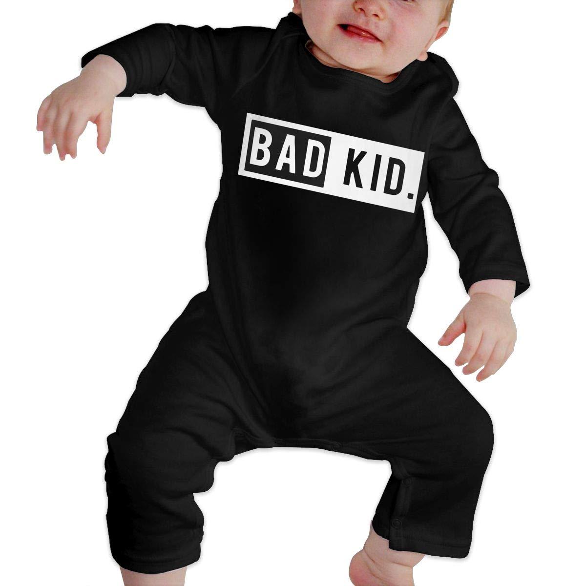 Comfortable Bad Kid Cotton Crawler Db84UR@5p Newborn Baby Girls Boys Long Sleeve Bodysuit