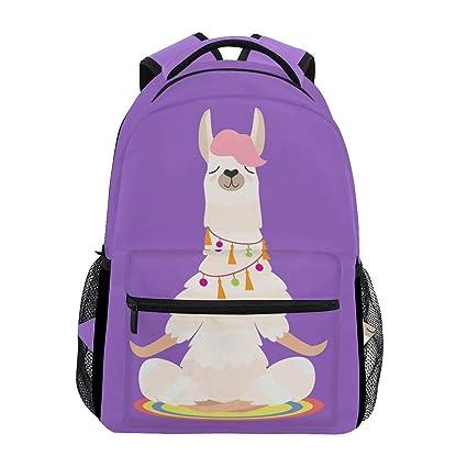 Animal Divertido Llama Haciendo Yoga Niños Niñas Escuela ...