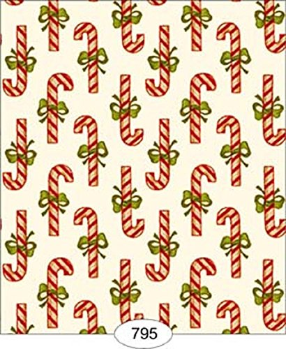 Dollhouse Wallpaper Christmas Candy Cane Stripe B