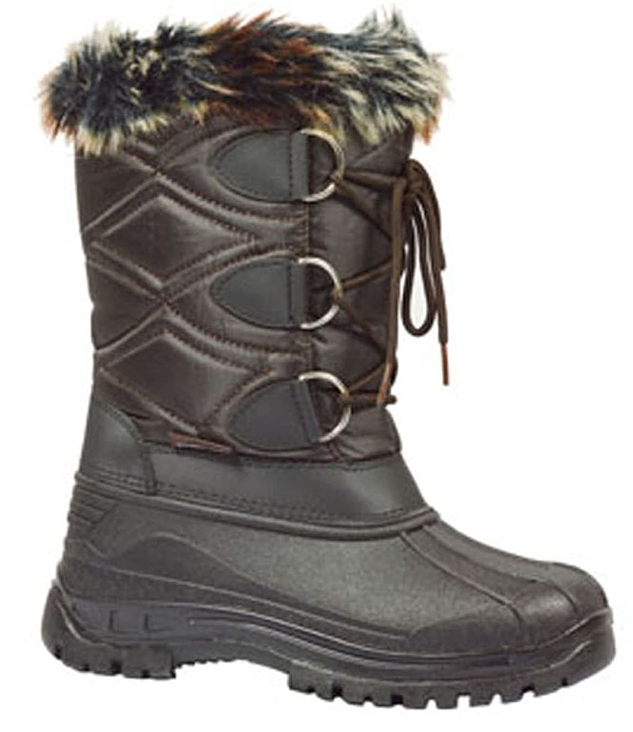 Golden Road Women Winter Snow Boots with Fur Lace up Quilted Wholesale