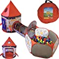 Playz 3pc Rocket Ship Astronaut Kids Play Tent, Tunnel, & Ball Pit with Basketball Hoop Toys for Boys, Girls, Babies, and Toddlers - Educational Galactic Spaceship Design with Planets & Stars by Playz that we recomend individually.