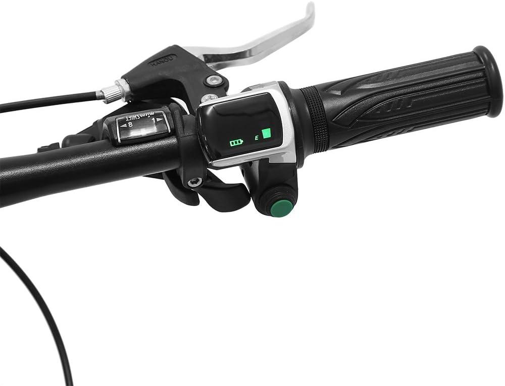 1 par Pantalla LCD a Prueba de Agua Acelerador de Agarre del Manillar del Acelerador para Coches el/éctricos Bicicleta Scooter E-Bike Tbest Empu/ñadura de Acelerador de Bicicleta el/éctrica