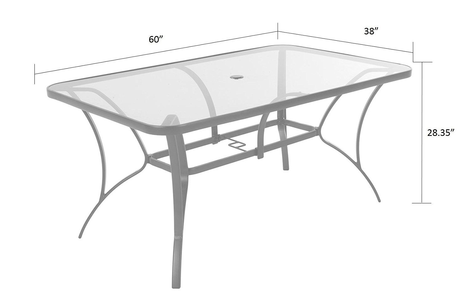 COSCO 88647GLGE Outdoor Living 7 Piece Paloma Steel Patio Dining Set, Light/Dark Gray by Cosco Outdoor Living (Image #13)