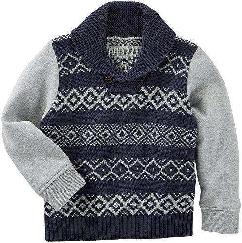 OshKosh B'Gosh Boys' Sweater 21401210, Stripe, 3T