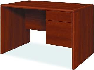 product image for HON 107885RCO 10700 Series Single 3/4 Right Pedestal Desk, 48w x 30d x 29 1/2h, Cognac