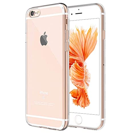 Whew Schutzhülle Kompatibel iPhone 6 6S,Ultra Dünn Crystal Clear Hochwertigem Weiche Silikon TPU Hülle, Stoßdämpfend, Staubsc