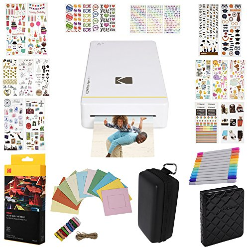 Kodak Mini Printer  Gift Bundle + 20 Paper + 9 Unique Colorf