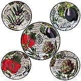 Certified International 89230 Botanical Veggies Pasta Set, Multicolored, 5 Piece
