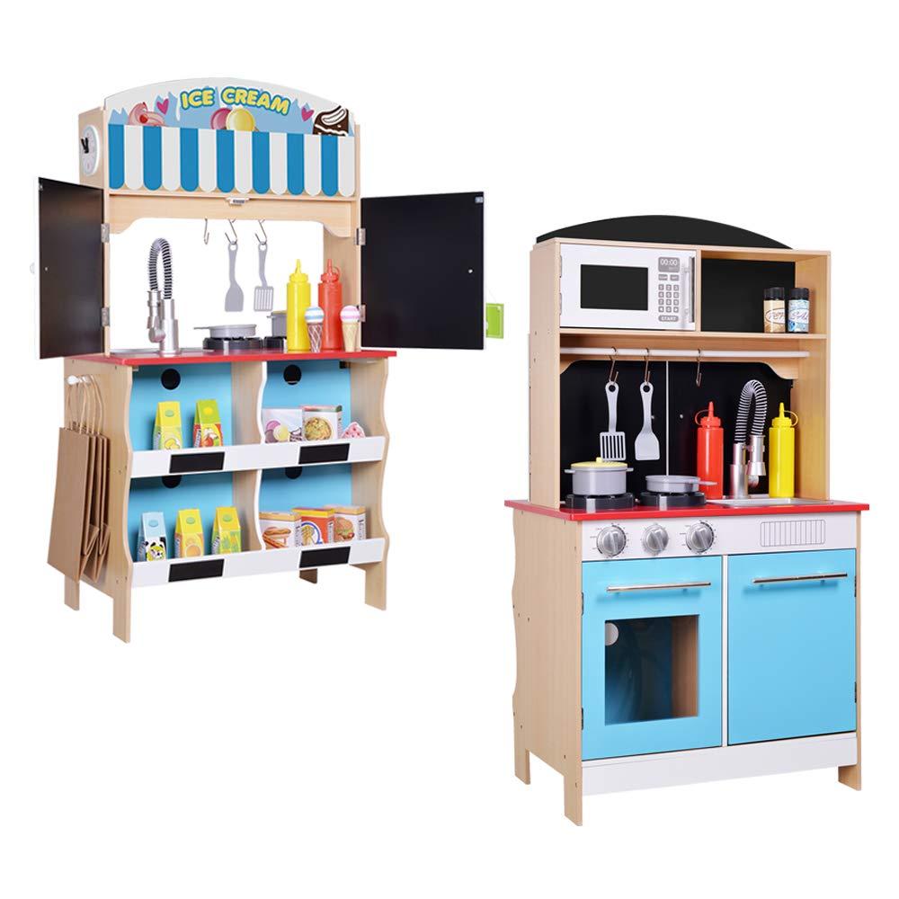 ColorBaby - Cocina madera 60 x 40 x 109 cm - Heladería (85290)