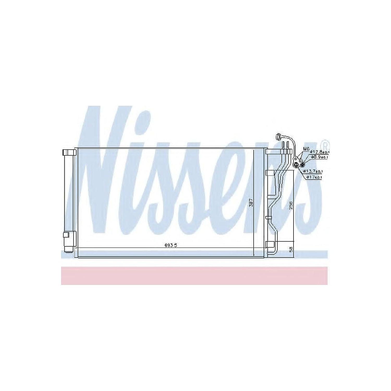 Nissens 940244 Condenser, air conditioning