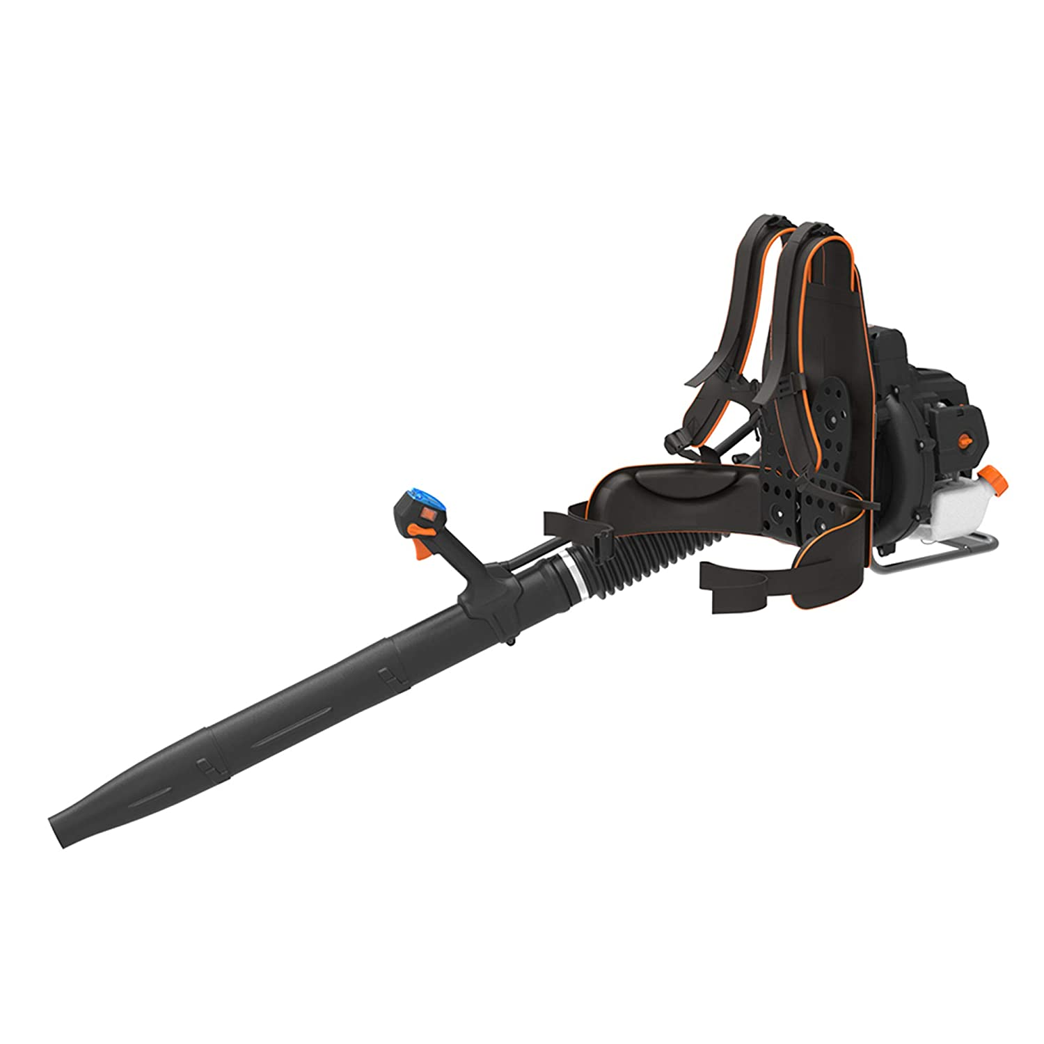 LawnMaster, NPTBL31AB, 2 Cycle 31cc No Pull Back Pack Blower, Orange, Black
