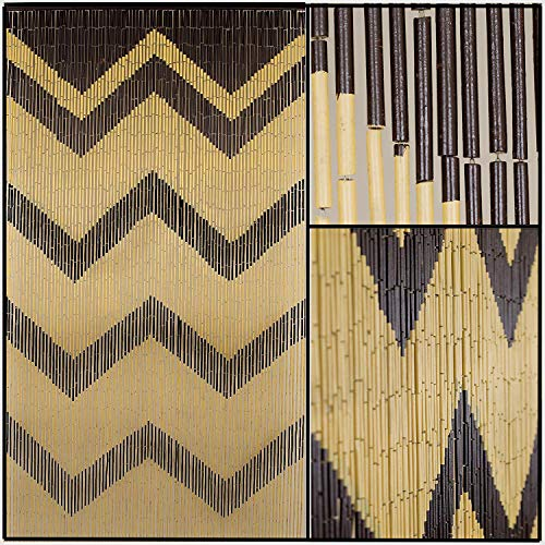 BeadedString Bamboo Wood Beaded Curtain-90 Strands-78 (6.5 ft) High-Bohemian Doorway ()
