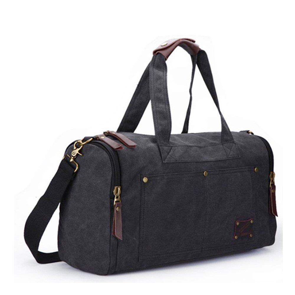 旅行バッグ 旅行ダッフルバッグ旅行バッグ、レジャー水洗浄キャンバスバッグ、クロスバッグ、ポータブルレジャー旅行バッグ、出張フィットネス旅行バッグ。 スポーツバッグ トラベルバッグ (色 : グレー) B07PJR218Y グレー