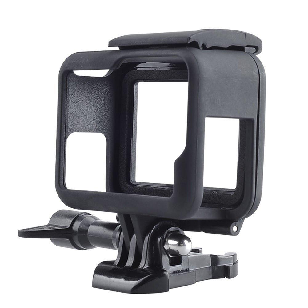 Micros2u GoPro Hero 5 Support /à d/égagement rapide compl/ète des ports dacc/ès 6 Coque de protection c/ôt/é ouvert support Cadre facile avec vis /à ailette