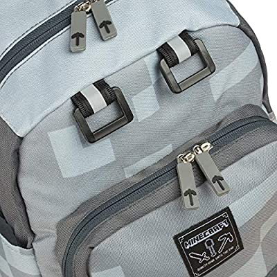 Grey, 12 JINX Minecraft Miner Kids Mini Backpack for School, Camping, Travel, Outdoors /& Fun 12 for School JINX Young Men/'s Apparel 6375