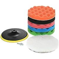 "Ajcoflt 7PCS Brand New 5"" 125mm/7"" 180mm Car Polishing Pads Waxing Buffing Pad Sponge Kit Set for Car Polisher Buffer…"
