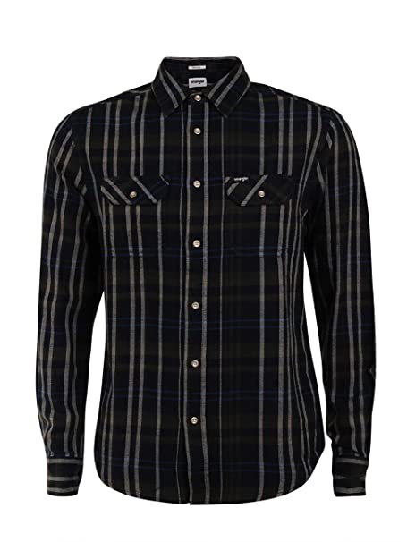 Wrangler - Camisa Casual - para Hombre Dusty Olive (W5982t245) S