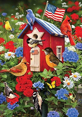 Custom Decor Patriotic Birdhouse