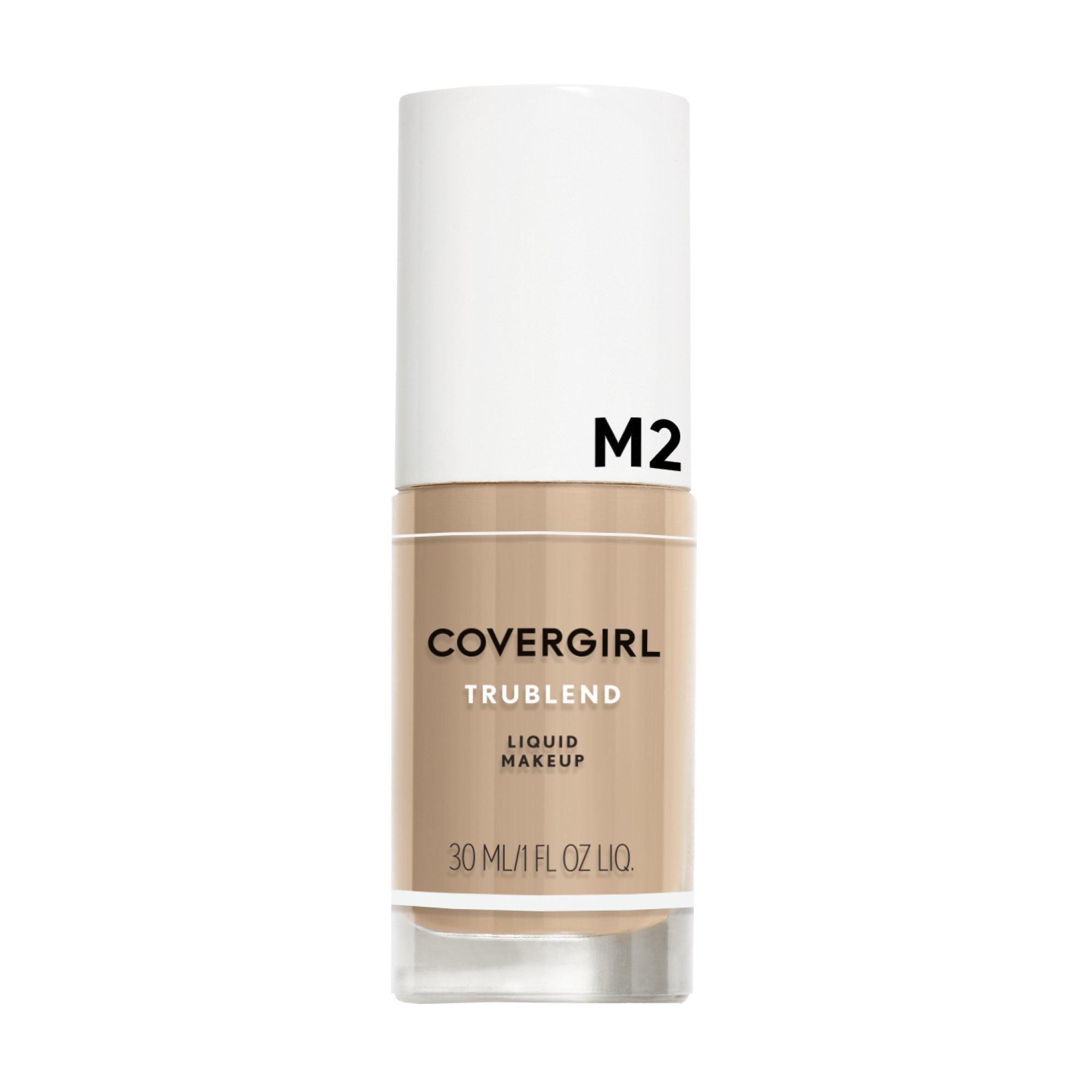 COVERGIRL truBlend Liquid Foundation Makeup Medium Light M2, 1 oz (packaging may vary)