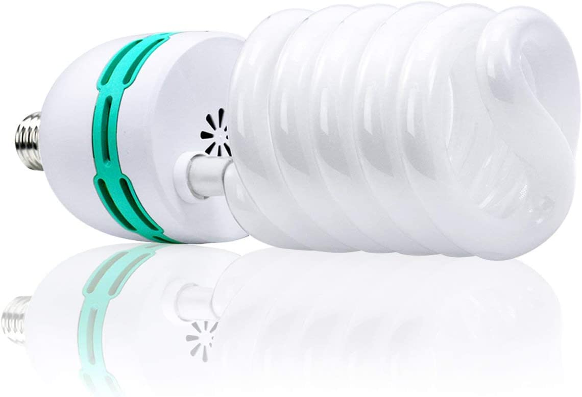 AGG3041 5500K Pure White Balanced Daylight Bulb for Photography and Video Lighting LimoStudio x2 Full Spectrum CFL Light Bulb 105Watt