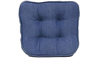 Brentwood Originals 663 Washed Denim Chair Pad, Blue