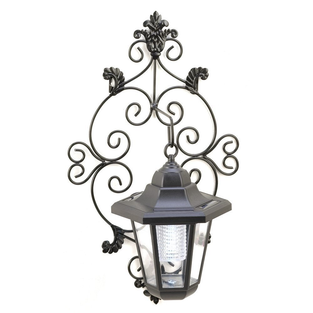 MyEasyShopping Solar Garden Wall Lantern, Sun Solar Power Garden Wall Lantern, Lantern Wall Garden Solar Light Outdoor Lamp Porch Patio Hanging, Smart Energy Savings And Old Fashioned Charm Lantern by MyEasyShopping (Image #1)
