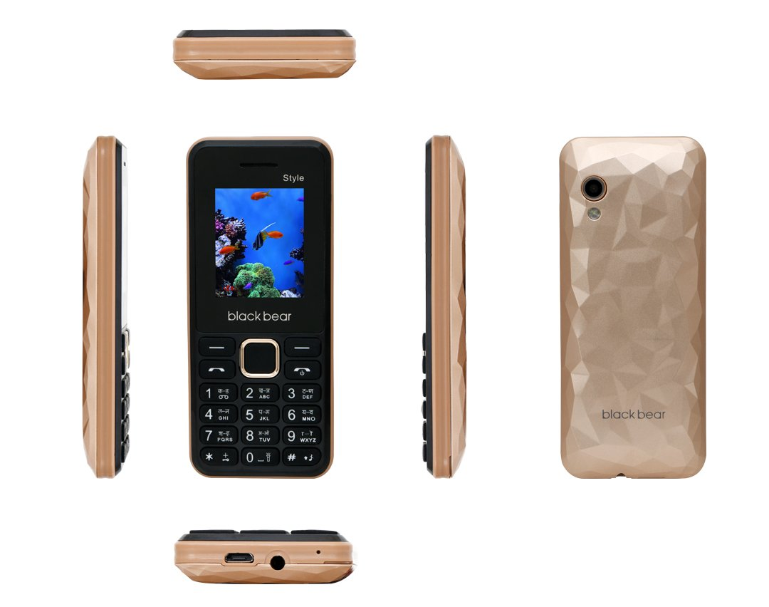 blackbear Featuer Mobile Phone Style Gold Color
