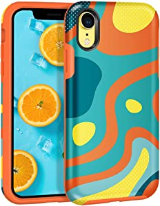 MAXCURY iPhone XR Case, Slim Stylish Anti-Scratch Shock Absorption Hard Shell with Soft Rubber Bumper Protective Case Cover for iPhone XR in 6.1 inch Screen (Colored River)