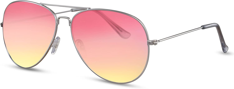 Cheapass Sunglasses Pilot Sunglasses Metal Mirrored Women Men Variation
