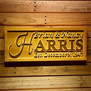 Amazon.com: Personalized Family Name Sign Made From Wood With ...