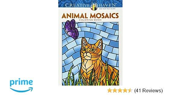 Amazon Creative Haven Animal Mosaics Coloring Book Adult 0800759781775 Jessica Mazurkiewicz Books