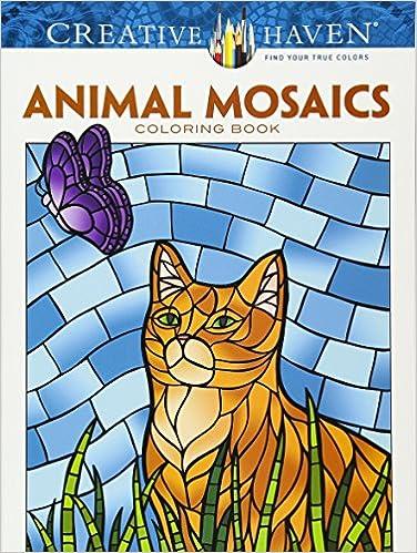 Amazon.com: Creative Haven Animal Mosaics Coloring Book (Adult ...