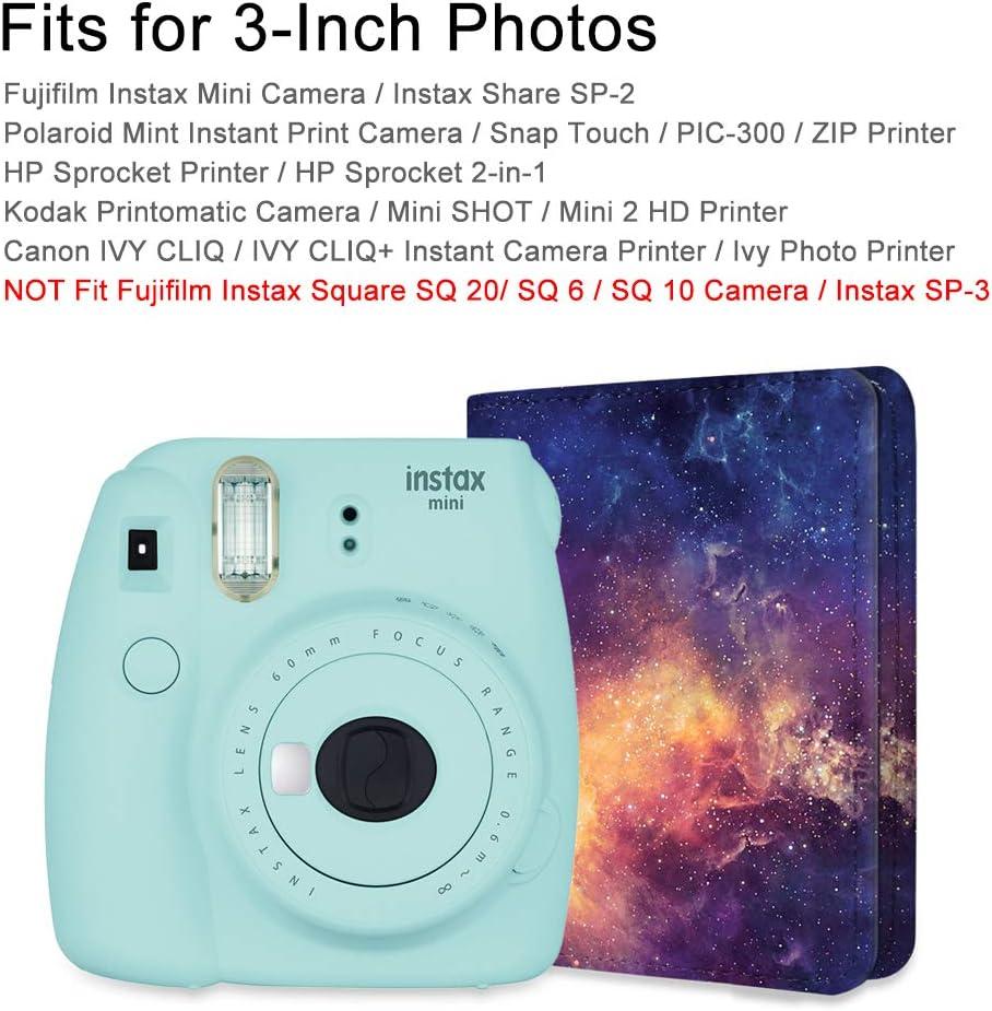 Polaroid Z2300 PIC di 300P 3-inch Film Instax SP 2 SP 1 Denim Charcoal 104 Pagine di Foto Album per Fujifilm Instax Mini 9//8 Mini 90 Mini 25 Mini 70 FINTIE Mini Foto Album per Fujifilm Instax