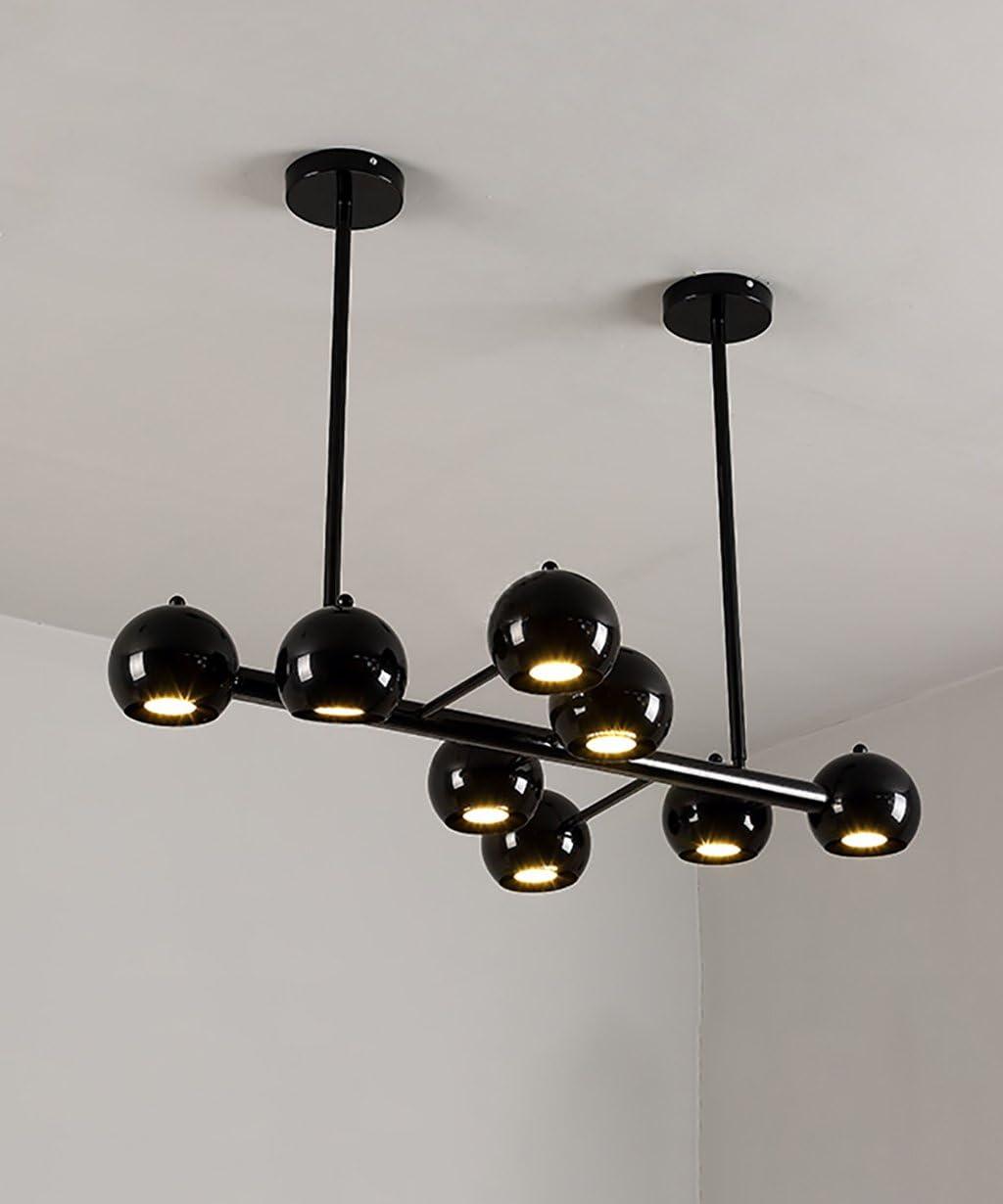 Postmodernas - Lámpara de techo con 8 cabezales LED para salón, bar, comedor, dormitorio, foco, luces decorativas