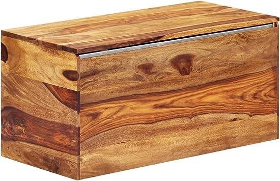 vidaXL - Baúl de almacenamiento de madera maciza de Sheesham vintage rústico encanto hogar interior dormitorio salón muebles tesoro madera caja de almacenamiento: Amazon.es: Bricolaje y herramientas