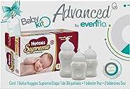 Advanced by Evenflo, Kit, Huggies Supreme E1, Biberón 9oz y 5oz, MEX