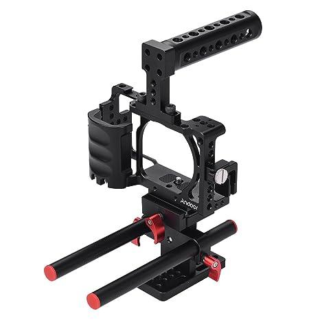 Andoer Video Camera Jaula Jaula Rig Sistema Filmación Aluminio Kit ...