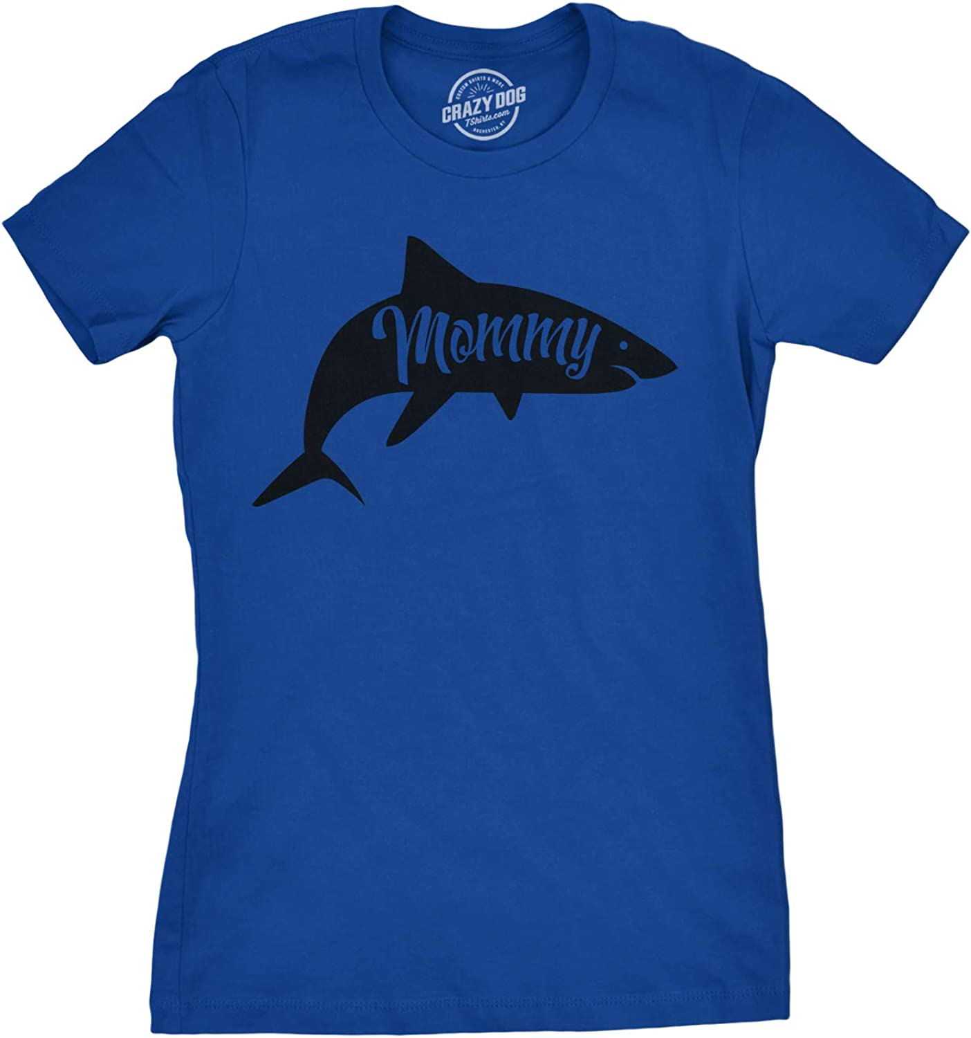 Womens Mommy Shark T Shirt Cute Mom Gift Funny Mama Family Cute Mothers Day Tee