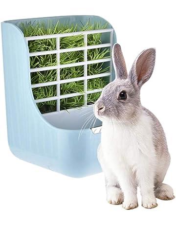 dispensador de Alfalfa sin desorden Soporte de Pared para Conejillos de Indias Conejos Mascotas Estante para Alimentar la Hierba de Conejo LNIMIKIY