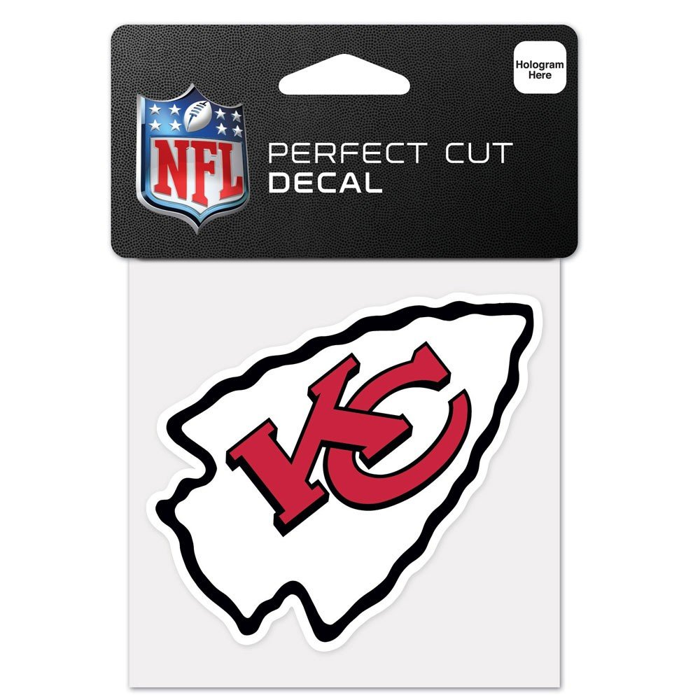 NFL Kansas City Chiefs 63052011 Perfect Cut Color Decal, 4'' x 4'', Black