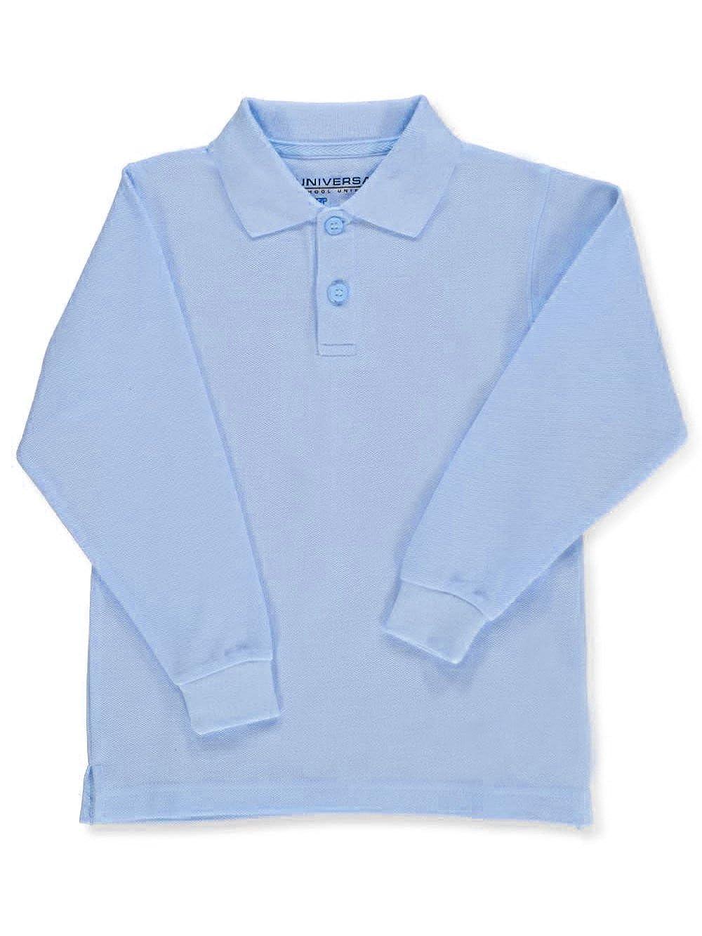 Universal Toddler Unisex L/S Pique Polo - blue, 4t