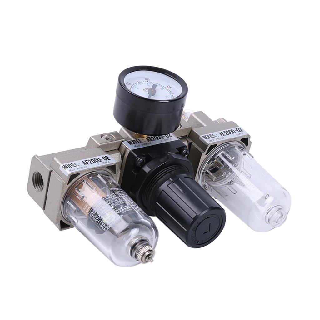MagiDeal SMC Tipo 3 Unidad Combo Regulador de Filtro de Aire Comprimido Vá lvula Ac2000-02