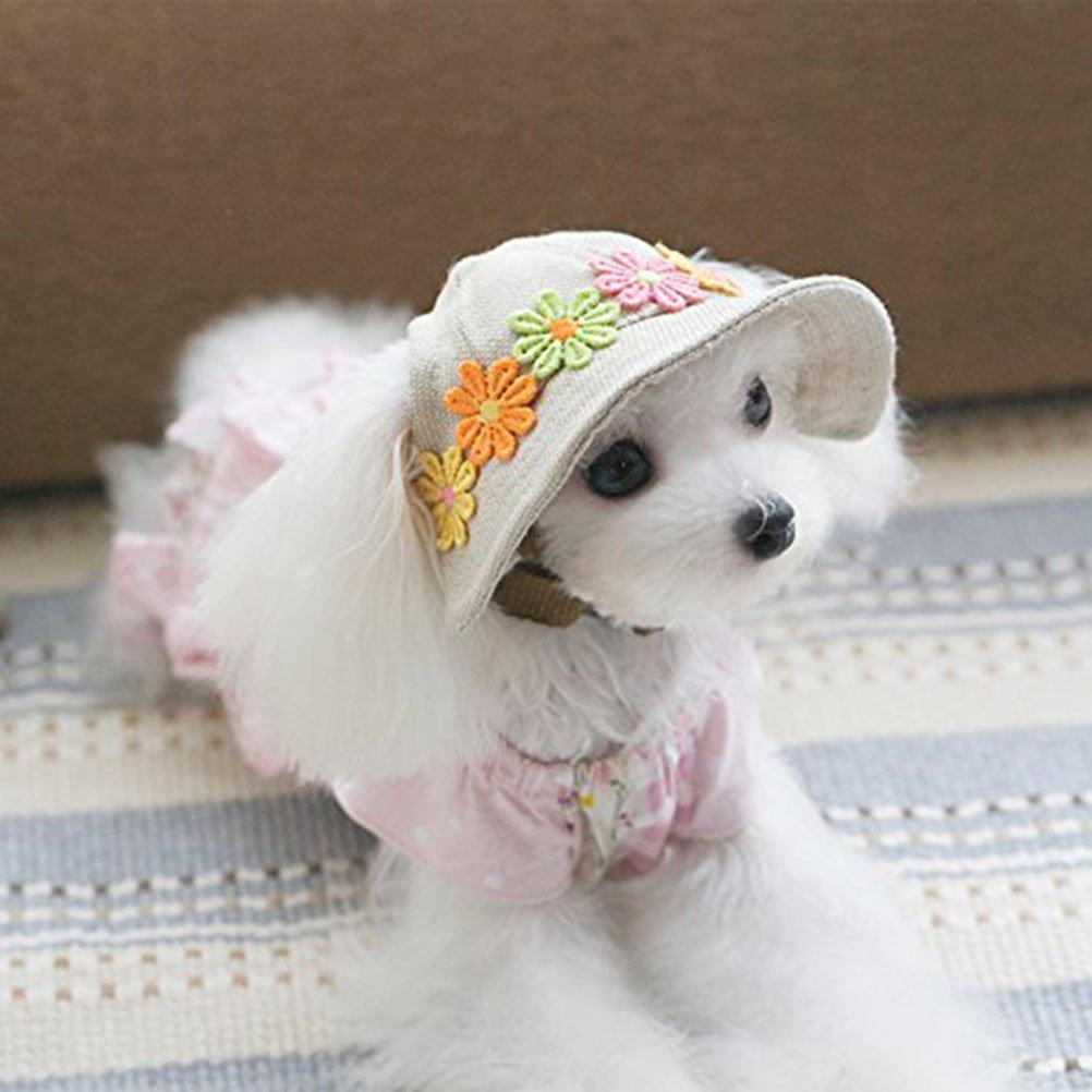 ROSENICE Small Pet Dog Cat Hat Sun Visor Sport Baseball Cap with Ear Holes  - 1S160842B34QV5272   Hats   Pet Supplies - tibs a48145f5ff94