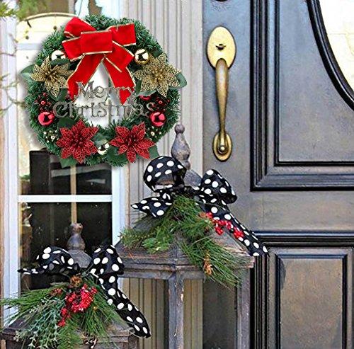 Christmas wreath xmas wall decorations 30 cm door hang for Outdoor christmas wall decorations