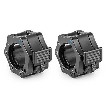 Capital Sports Pareja de bloqueadores para barras de pesas (50mm diámetro, sistema de bloqueo