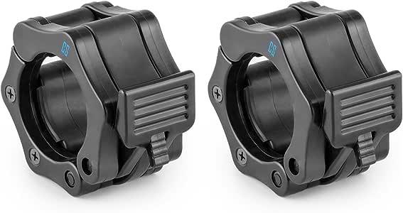 Capital Sports cierre rápido de par de pesas Cierres clic de y cierre de sujeción para barras de pesas de 50mm