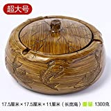 Znzbzt ashtray creative large bedroom living room with personalized cover home fashion multifunction practical ashtray, Lin, a fish