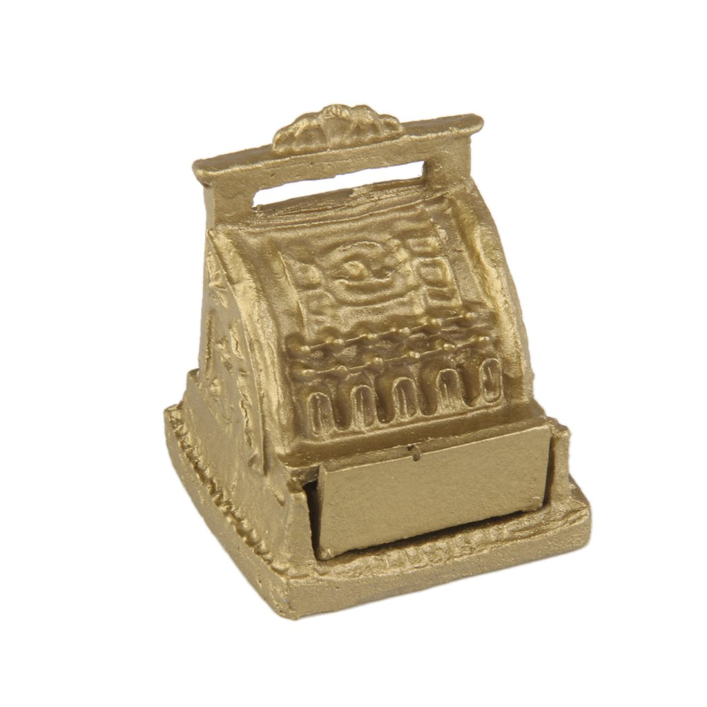 1 12 Dollhouse Miniatura Caja Registradora Mueble Para Casa De  # Muebles Caja Registradora