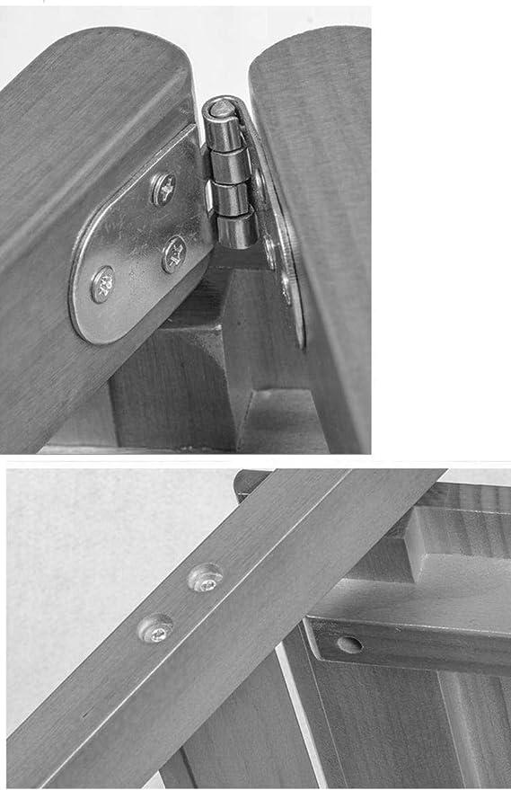 Las escaleras de madera 3 plegable taburete banda de rodadura de escalera, escalera de tijera hogar Silla de comedor de madera for niños y adultos, Hogar Jardín Herramienta for trabajo pesado Max.200k:
